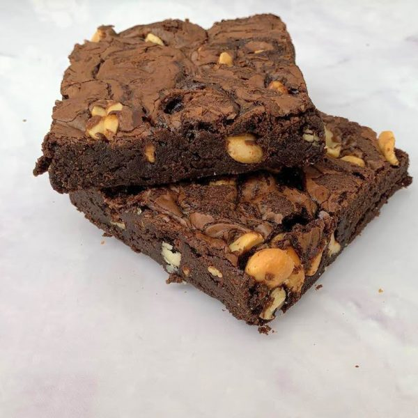 Salted Peanut and Homemade Caramel Brownie